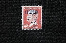 Perfin  Pasteur  Algérie   Perforé Lochung  CL13