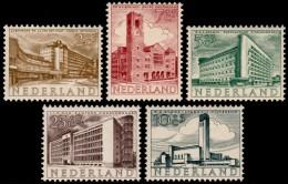~~~ Netherlands 1955 - Modern Architecture / Zomerzegels - NVPH 655/659  ** MNH ~~~ - Unused Stamps