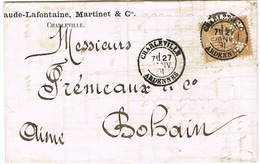 PERFORATION CA SUR SAGE LAC CHARLEVILLE CLAUDE LAFONTAINE MARTINET ET CIE - Postmark Collection (Covers)