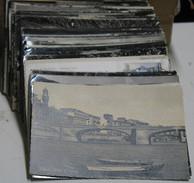 406/1 STOCK CARTOLINE BIANCO E NERO N.108 ANNI 50 VIAGGIATE CON AFFRANCATURA CITTA E PAESI D'ITALIA SENZA DOPPIONI - Postcards