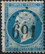 Stamp France 1862 20c Numeral Used Lot#32 - 1862 Napoleon III