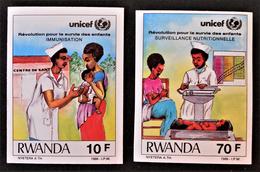 UNICEF 1987 - NON-DENTELES NEUFS ** - YT 1231/32 - MI 1360/61