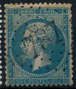 Stamp France 1862 20c Numeral Used Lot#90 - 1862 Napoleon III