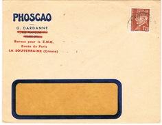 ENVELOPPE  A EN-TETE PHOSCAO G DARDANNE LA SOUTERRAINE CREUSE - 1921-1960: Periodo Moderno