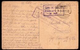 A1120 - Alte Künstlerkarte - Feldpost 1. WK WW 1918 - Aus Militärischen Gründen Umgezogen - Alsina - Guerre 1914-18