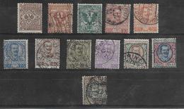 V.emanuele III 1901 Serie Completa Francobolli Regno S.10+91 Sassone(usati 11+1 Valori) - Usati