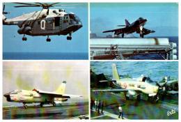 AVION DE GUERRE , Militaire , Aviation Embarquée , Super Frelon , étendard , Crusader , Alizé - 1946-....: Modern Era