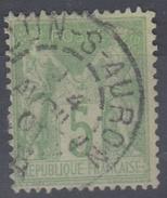 SAGE 5C Oblitéré DUN SUR AURON - 1876-1898 Sage (Type II)