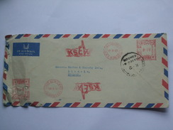 PAKISTAN 1965 AIR MAIL COVER KARACHI TO LINCOLN ENGLAND WITH CENSOR MARK - Pakistan