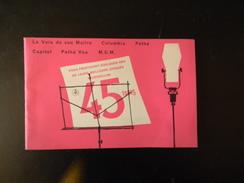 Catalogue Des Meilleurs Disques 45 Tours La Voix De Son Maitre Pathe Marconi 23 Pages - Unclassified