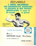 1968 - DAVE PROWSE - Campione Sollevamento Pesi - BULLWORKER - 2 P. Pubblicità Cm. 13 X 18 - Sport