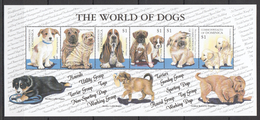 C238 COMMONWEALTH OF DOMINICA PETS THE WORLD OF DOGS 1KB MNH