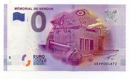382-1) Billet Touristique 0 Euro -  Mémorial De Verdun - EURO