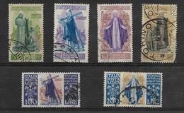 Francobolli Repubblica Italiana Serie Completa Santa Caterina S.113(4+2=6 Valori Usati Compresa Posta Aerea) - 1946-60: Usati