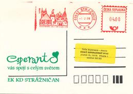 L3043 - Czech Rep. (1999) 696 62 Straznice. 72 A SAT KONGRESO KARLOVY VARY 24.-31.7.1999 (postcard) Tariff: 4,00 CZK - Esperanto