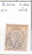 GARD '- S/55 - 15c Ceres Bistre    - Oblit  GC  4549-  (   Aigues Vives  )