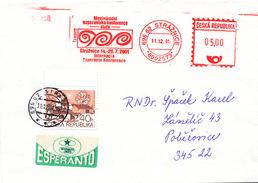 L3044 - Czech Rep. (2001) 696 62 Straznice. Internacia Esperanto Konferenco 2001 Straznice (letter) Tariff: 5,40 CZK - Esperanto