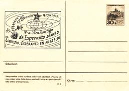 "L3045 - Czechoslovakia (1973) Hodonin: Regional Stamp Exhibition (postal Stationery ""Simpozio: Esperato En Filatelio"")"