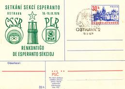 L3047 - Czechoslovakia (1976) Ostrava: CSSR-PLR Renkontigo De Esperanto Sekcioj (+ Commemorative Postmark) - Esperanto