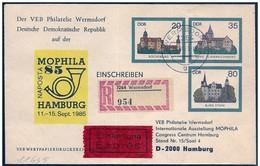 DDR: Intero, Stationery, Entier, Registered, Recommandé, Express, Intero Stationery, Entier, Castello, Castle, Château