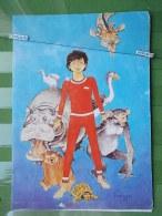 KOV 734 - HERMANN CARD, STRIP ART FEATURES, MONKEY, BEAR, TURTLE - Animaux & Faune