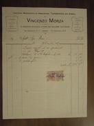 """OFFICINA MECCANICA DI PRECISIONE """"LEONARDO DA VINCI"""" DI VINCENZO MORZA  ROMA   -  Fattura 24 Dicembre 1912 - Italia"""
