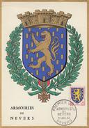 Carte Maximum  1er Jour    Armoiries  De  NEVERS     1962 - Maximum Cards