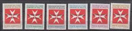 PGL BT072 - SMOM ORDRE DE MALTE TAXE SASSONE N°11/16 ** - Sovrano Militare Ordine Di Malta