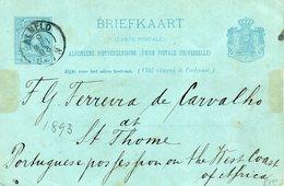 1893  Kleinrond ALMELO Op Bk Naar ST. THOME - Marcophilie