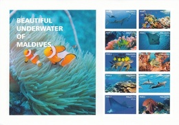 Maldives 2016, Underwater, Fishes, Turtle, Dolphins, Diving, 10val In BF IMPERFORATED