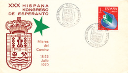 L3051 - Spain (1970) Mieres: XXX Certamen Nac. Esperanto (coat Of Arms) - Esperanto