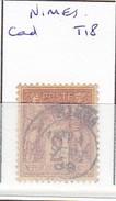 GARD -  S/85 - 2c Sage Brun S/jaunet  - Oblit  CAD  T18  (  Nimes  )
