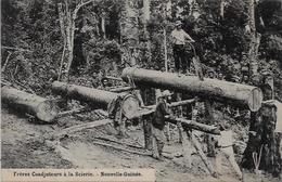 CPA Nouvelle Guinée Océanie Scieur De Long Métier Du Bois écrite - Papouasie-Nouvelle-Guinée
