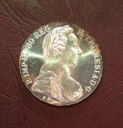 AUTRICHE  - 1 THALER (Refrappe) Marie-Thérèse 1780 Vienne - Autriche