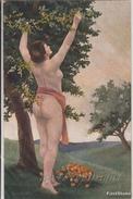 """NU_NUE_NUS_NUDE_NAKED WOMAN-NUDI ARTISTICI-""""Eva"""" ... Pinxit-Serie N°1010-Original D'epoca 100%- - Malerei & Gemälde"""