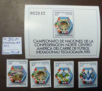 Honduras  World Soccer  MiNr. 981 -84   Block 34  Fussball-WM 1982 Spanien MNH ** Postfrisch   #4742 - Honduras