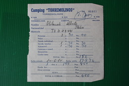 CAMPING TORREMOLINOS - 1974 - Spagna