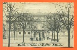 """CPA Montbéliard """" Hotel De Ville Et Statue Cuvier """" LJCP 35 - Montbéliard"""