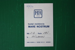 HOTEL MARE NOSTRUM - BARCELLONA - 1970 - Spagna