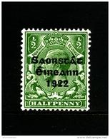 IRELAND/EIRE - 1922  1/2 D. FREE STATE  MINT  SG 52 - 1922-37 Stato Libero D'Irlanda