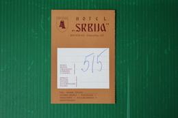 HOTEL SRBIJA - BEOGRAD - 1971 - Fatture & Documenti Commerciali