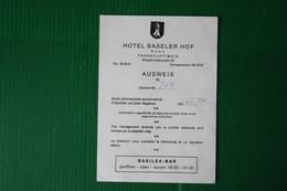 HOTEL BASELER HOF - FRANKFURT - 1974 - Sport & Turismo