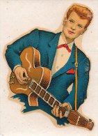 """Décalcomanie """"johnny ??"""" à La Guitare (PPP2138) - Old Paper"""