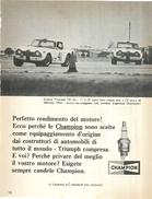 1966 - TRIUMPH TR 4A - Candele CHAMPION - 1 P. Pubblicità Cm. 13 X 18 - Automobilismo - F1