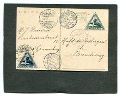 Nederland Briefkaart Per Pelikaan Naar Ned.-Indië En Retour 1933