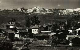 CP Glacée - Suisse  (Valais)   VERCORIN - Vue Partielle Du Bourg - VS Valais