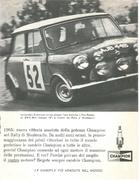 1966 - BMC Mini Cooper S - Rally Di Montecarlo - Candele CHAMPION - 1 P. Pubblicità Cm. 13 X 18 - Automobilismo - F1