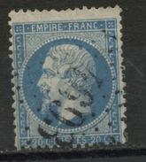 FRANCE-TYPE NAPOLEON 20 Cts BLEU - N° Yvert 22 OBL. LOSANGE GROS CHIFFRES 4693 (Bouniagues OU Reichshoffen)
