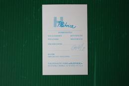 HOTEL PLITVICE  - 1970 - Fatture & Documenti Commerciali