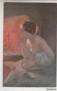 """NU_NUE_NUS_NUDE_NAKED WOMAN-NUDI ARTISTICI-""""..."""" GUERZONI Pinxit_Serie N°1053-4-Original D'epoca 100%- - Malerei & Gemälde"""